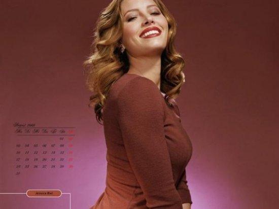 Джессика Бил (Jessica Biel) - календарь 2009