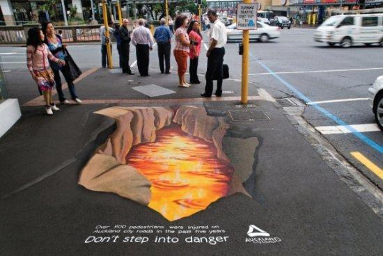 Социальная реклама для пешеходов в Окленде