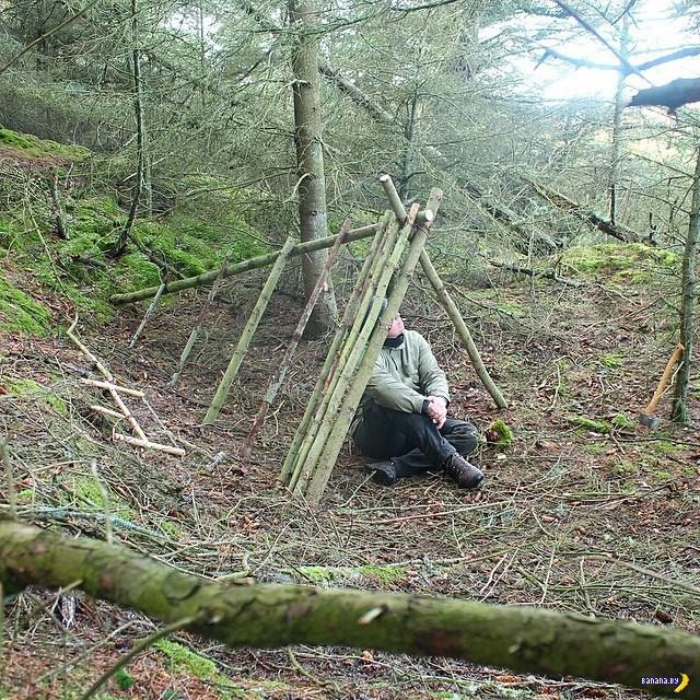 Видео секс в лесу в шалаше